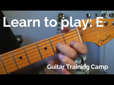 Beginner Guitar Lessons: How to play a E chord - YouTube