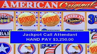 JACKPOT HANDPAY ON AMERICAN ORIGINAL SLOT MACHINE ★ HIGH LIMIT BONUS FREE SPINS ➜ FREE PLAY