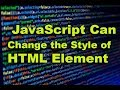 JavaScript for changing style of HTML element