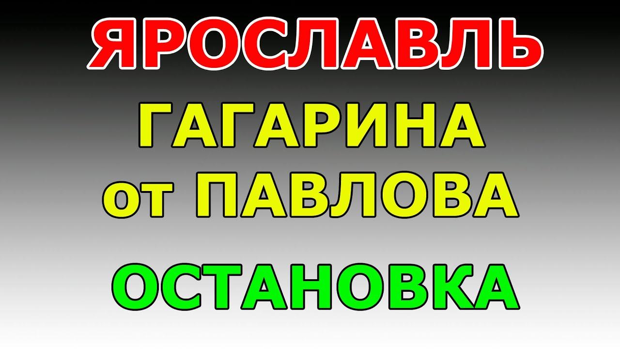 ОСТАНОВКА ул.Гагарина от ул. Павлова.  маршрут ГИБДД №2 г. Ярославль