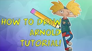 How To Draw Arnold (TJM design) Tutorial! (With commentary)