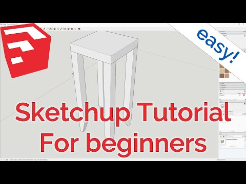 Sketchup Make (2017 free version) Tutorial/Introduction for woodworking/woodworkers, makers and DIY