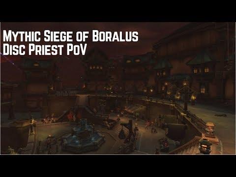 BfA Beta Mythic Siege of Boralus - Disc Priest PoV