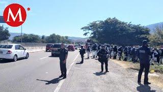 Guardia Nacional y policías repliegan a manifestantes en Autopista del Sol