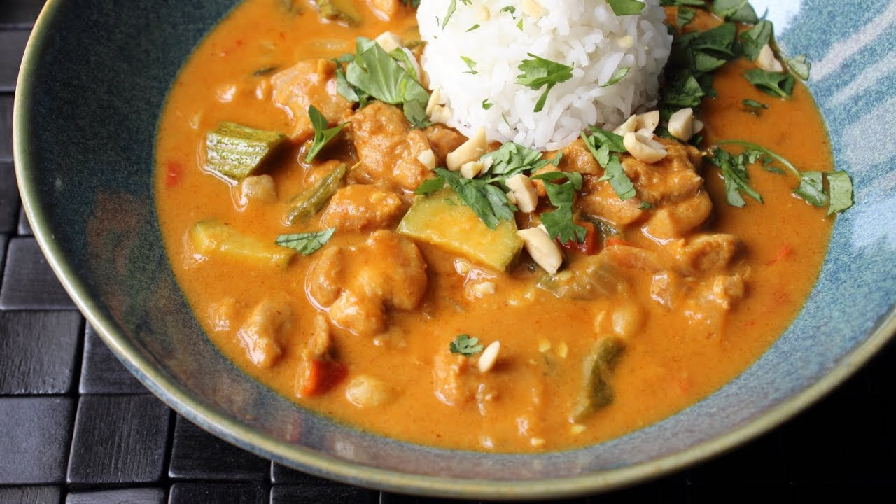 Peanut Curry Chicken - How to Make Chicken with Peanut Curry Sauce ...