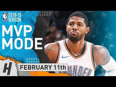Paul George UNREAL Triple-Double Highlights vs Blazers 2019.02.11 - 47 Pts, 12 Reb, 10 Ast, MVP!