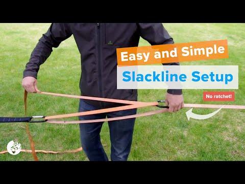 YogaSlackers ~ eLine Slackline set up REVISED (2013)