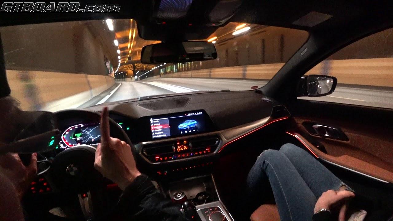 G20 BMW 330i Night citydriving POV BMW Live Cockpit Professional [4k]