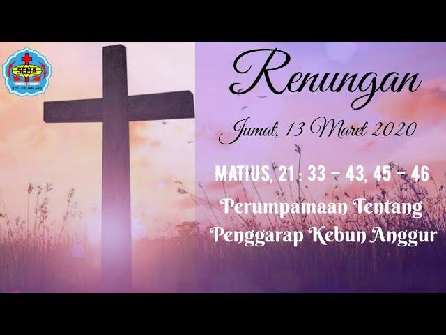 RENUNGAN MATIUS 21:33-43,45-46