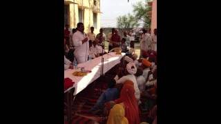 Ramlal Jat- MLA Bhilwara - addressing people of Ghodas