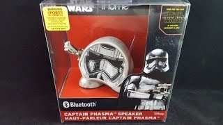 Star Wars Captain Phasma Blue Tooth Speaker Un-Boxing Review