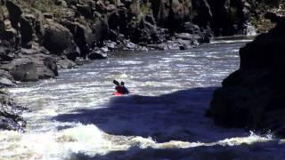 Dumb Ass Falls off Waterfall in Kayak