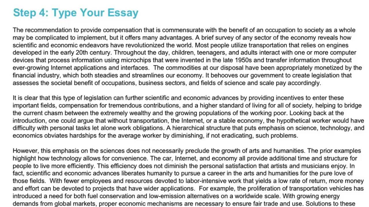 argument essay gre pool