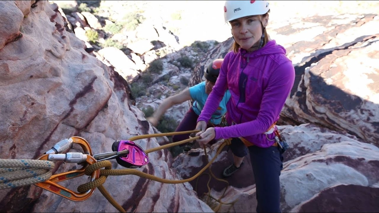 How to Belay From Above with a Grigri - YouTube