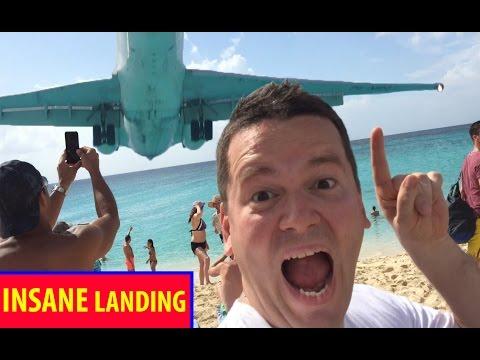 WOW! INSANE MAHO BEACH! Saint Martin Airport LANDING! Plane landing Full HD 1080p PLANESPOTTING