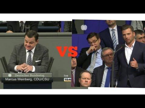 Kontrovers im Bundestag zwischen Marcus Weinberg (CDU/CSU) und Jan Ralf Nolte (AfD)
