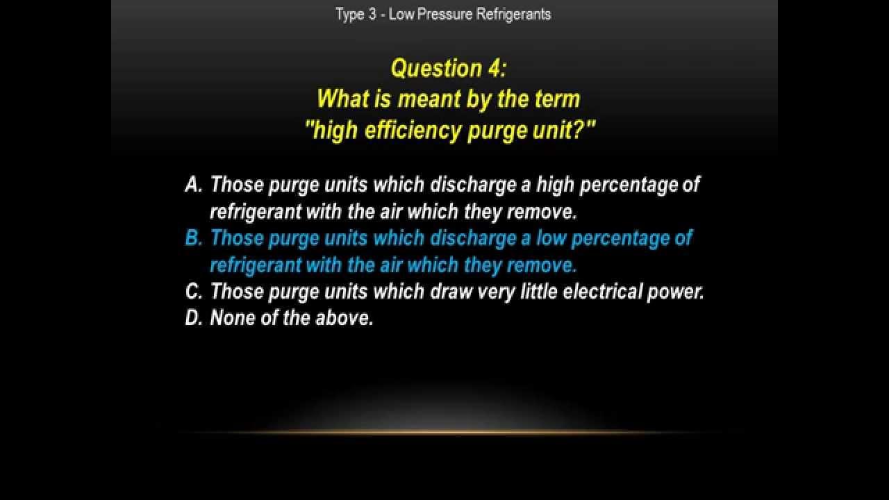 Epa Cfc 608 Type 3 Low Pressure Practice Exam Questions Youtube