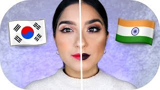 KOREANISCHES vs INDISCHES MAKE UP ‼️ | Sanny Kaur