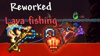 Reworked Lava fishing Explained(+ NËW lava fishing item) - Terraria 1.4 Showcase