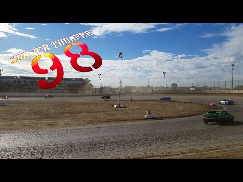 10-1-17 LaSalle Speedway IL 200 lap rac Day of Destruction lap enduro race the ending laps T3 and T4
