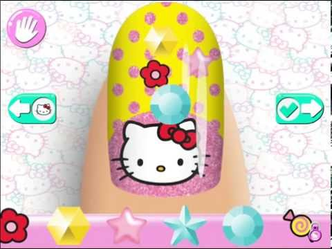 Hello Kitty - Nail Salon. Gameplay. Epic Online Game | iPhone | iPad Мультфильм для детей.