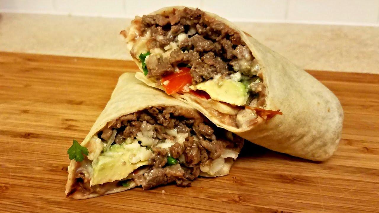 Carne Asada Burrito Recipe - How to make a Burrito - YouTube