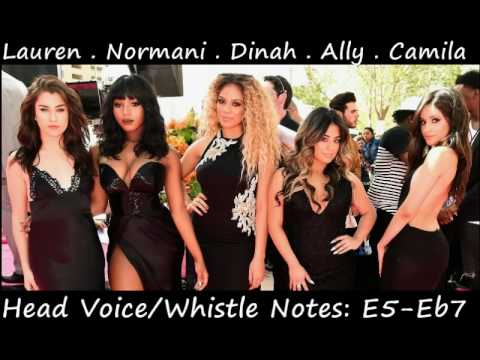 Fifth Harmony 2016 Vocal Range: C3 - B5 - Eb7 (Updated)