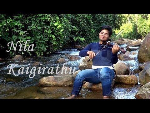 A R Rahman best melody - Nila Kaigirathu - violin cover - Rishad Shiraz
