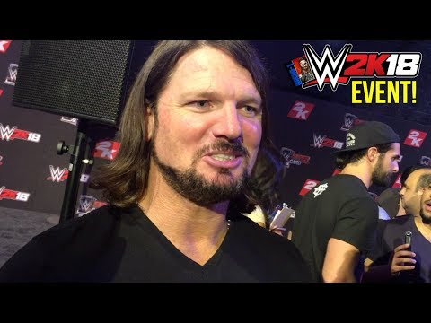 AJ Styles Interview From #WWE2K18 SummerSlam Event! (ft. @TonyPizzaGuy!)