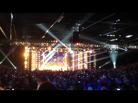 Judges Arriving On Stage At The X Factor Auditions Event City Manchester 07.06.12