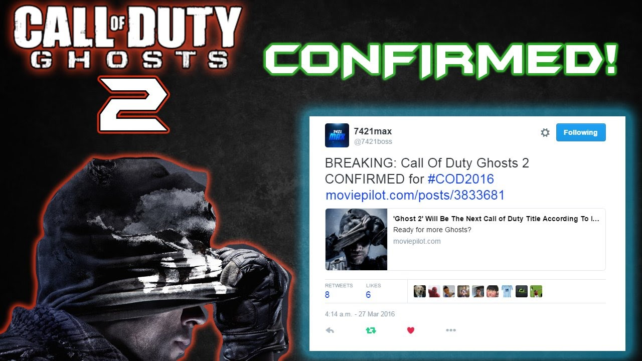Official Call Of Duty Ghosts 2 Confirmed As Cod 2016 Cod