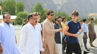 Imran Khan with his sons, Kasim & Suleiman at Shangrila, villages in Shigar Valley