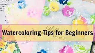 How to Watercolor/Watercoloring Tips for beginners:  creativation + card making