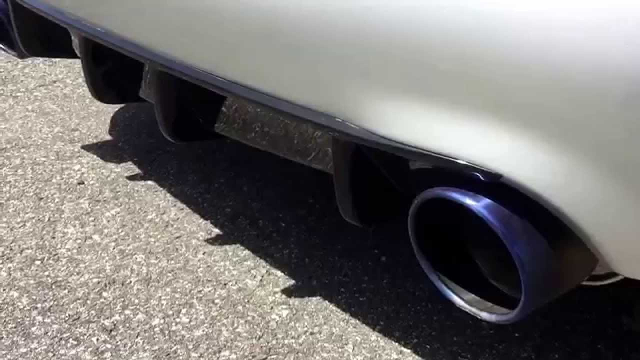 Motordyne Shockwave G7 vs AAM Competition exhaust quick start up Nissan  Maximas