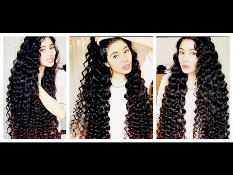 NO Heat Straw Curls On Extra Long Hair -SHAKIRA Curls-Inspired -Beautyklove