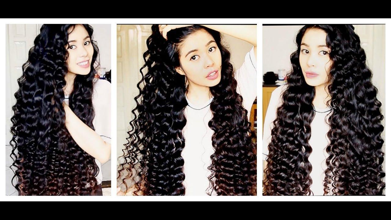 No Heat Straw Curls On Extra Long Hair Shakira Curls Inspired Beautyklove