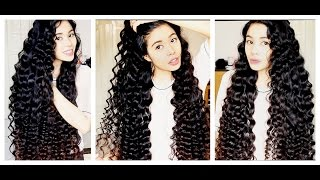 NO Heat Straw Curls On Extra Long Hair -SHAKIRA Curls-Inspired -Beautyklove