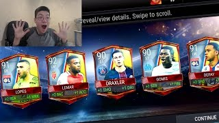 FIFA Mobile LIGUE 1 LEAGUE MASTERS PACKS!! CRAZY 90+ OVR PULLS!! FIFA MOBILE PACK OPENING