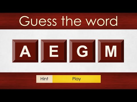 QQ15 - Scrambled Words Brain Teasers | Guess The Word | Rapid Round Word Puzzle Game For Kids & All