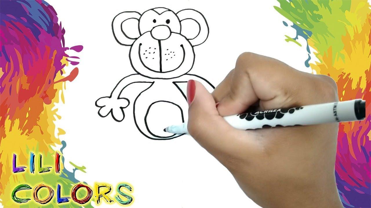 Desenhar E Pintar Macaquinho Para Crianca Em Portugues Youtube