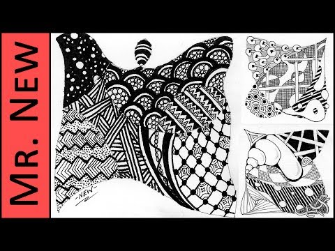 How to Zendoodle a Tile - Step By Step Zentangle Tutorial - YouTube