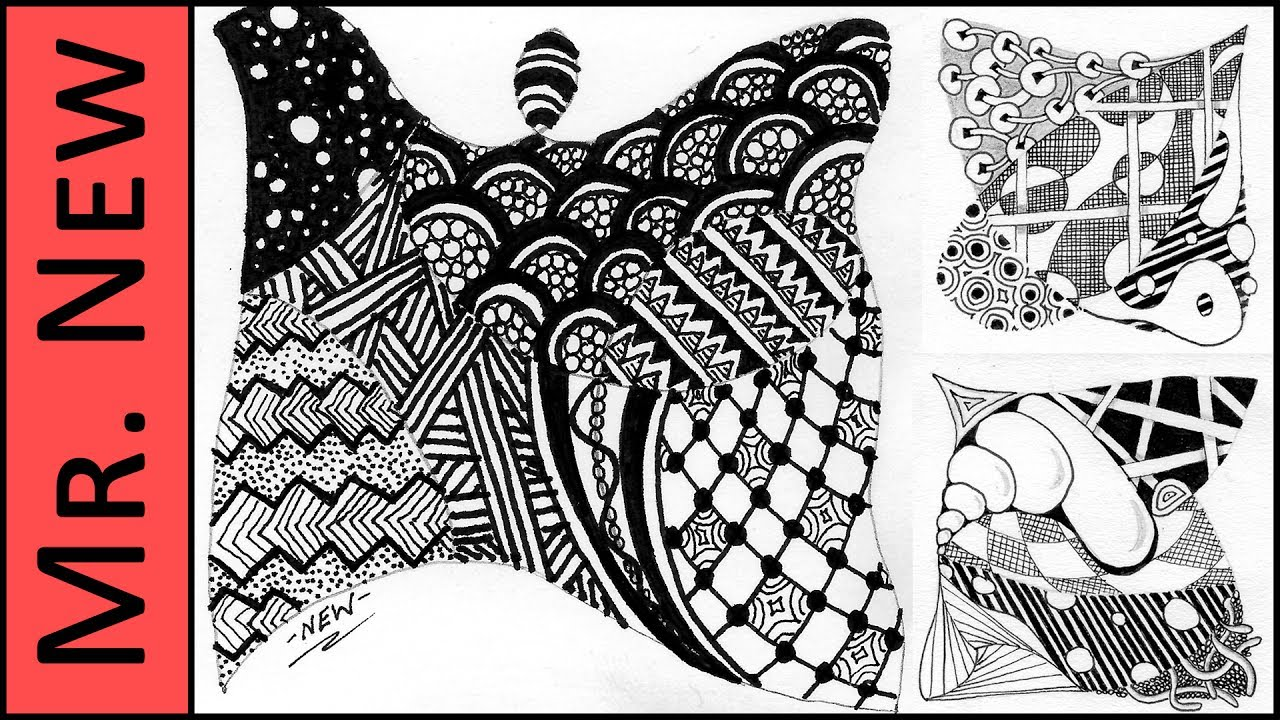 Zentangle Patterns Step By Step Awesome Inspiration Design