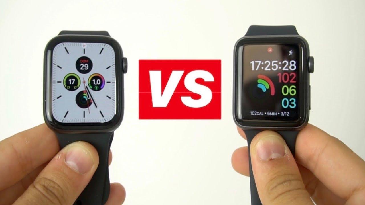 Anunciante En cualquier momento Guión  Apple Watch Series 5 vs Apple Watch Series 3 ¿CUAL COMPRAR? - YouTube