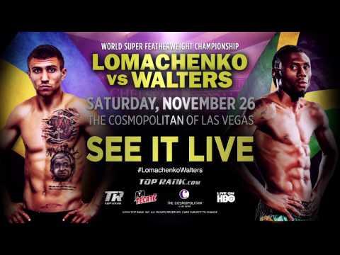 Vasyl Lomachenko vs Nicholas Walters   WBO Jr Lightweight Title   November 26th