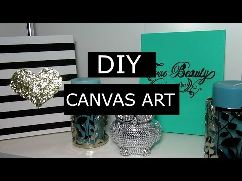 Super Chic Diy Canvas Art Project