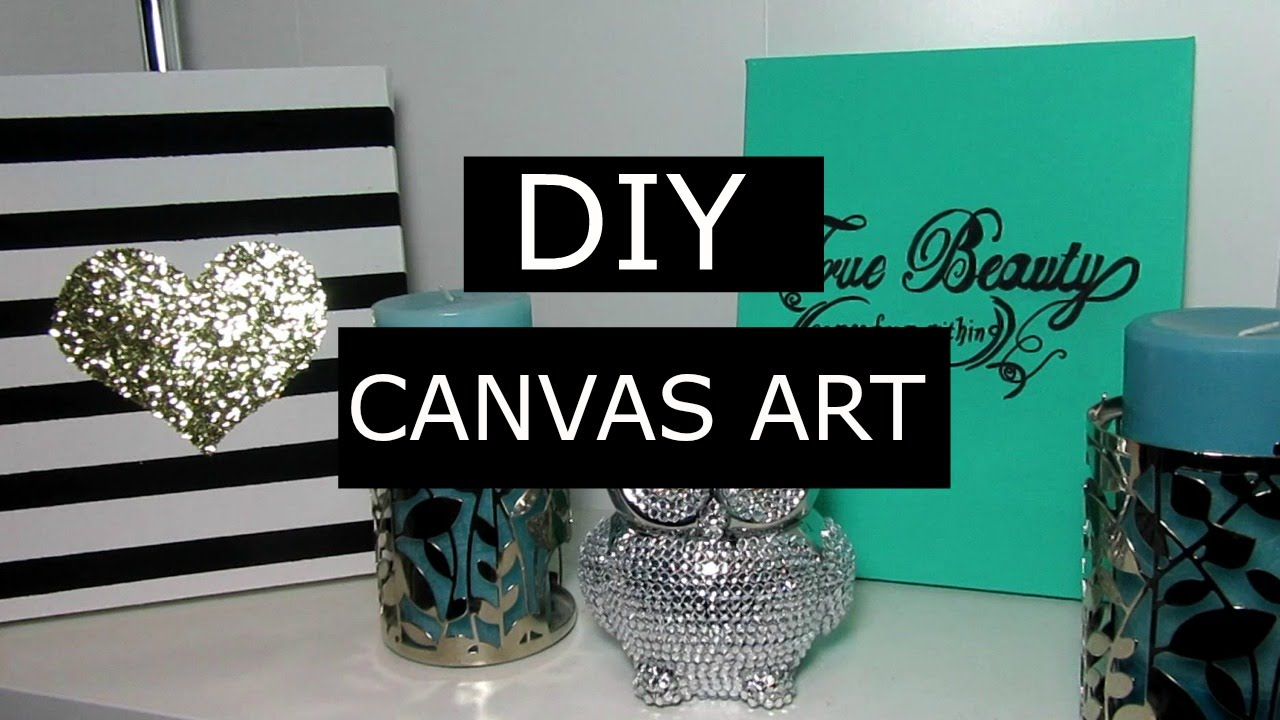 Super Chic Diy Canvas Art Project - YouTube