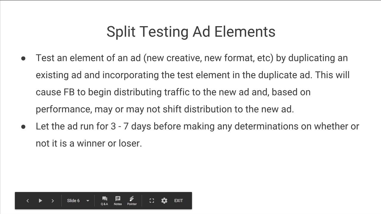 HOW TO SPLIT TEST FACEBOOK ADS (PT 58)