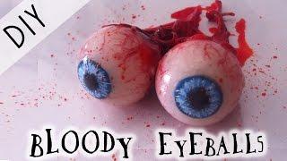 🎃 Halloween Tutorial : DIY Bloody  Eyeballs !🎃