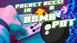 Pocket Aces in a Bomb Pot! ♠ Live at the Bike!