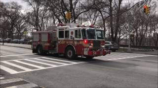 FDNY RESPONDING COMPILATION 60 FULL OF BLAZING SIRENS & LOUD AIR HORNS THROUGHOUT NEW YORK CITY.